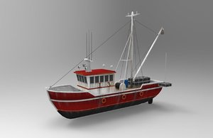fishing boat 3D