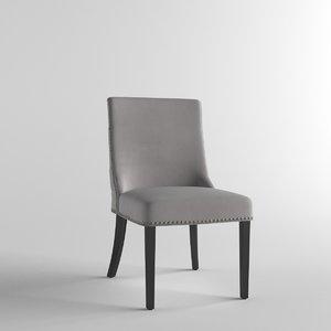 3D model grey chrome stud