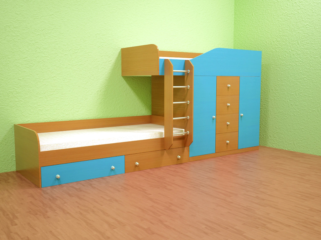 3D children bed model