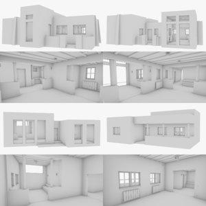 3D adobe interior building