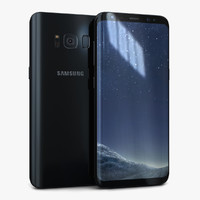 3D model samsung galaxy s8 midnight