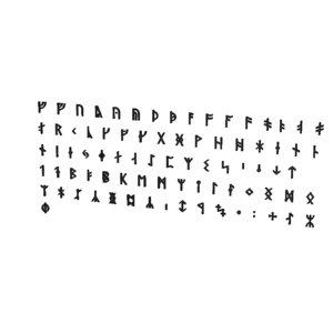 3D runic alphabets cg cad