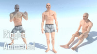 3D male base human model