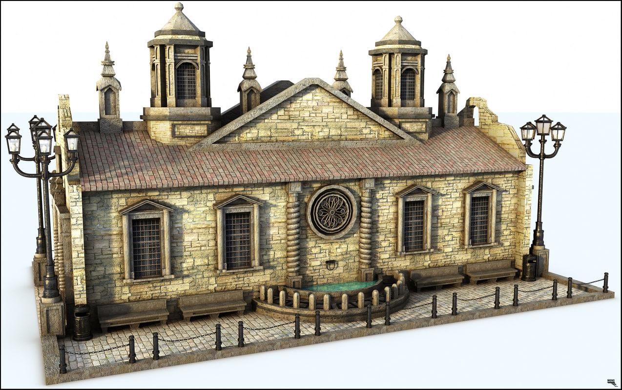 3D model ancient building