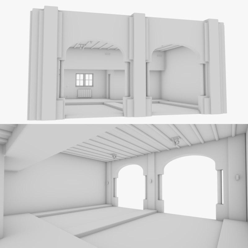 adobe garage interior model