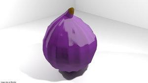 figs fruit mediterranean 3D model