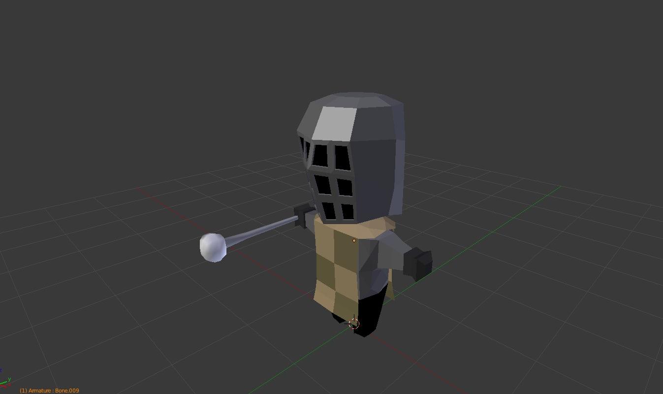chibi knight v5 3D model