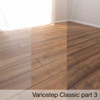 3D parquet floor model