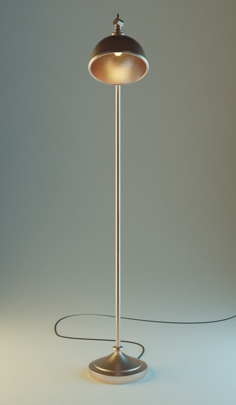3D lamp blender cycles model