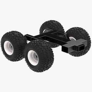 3D trailer structure chassis frame