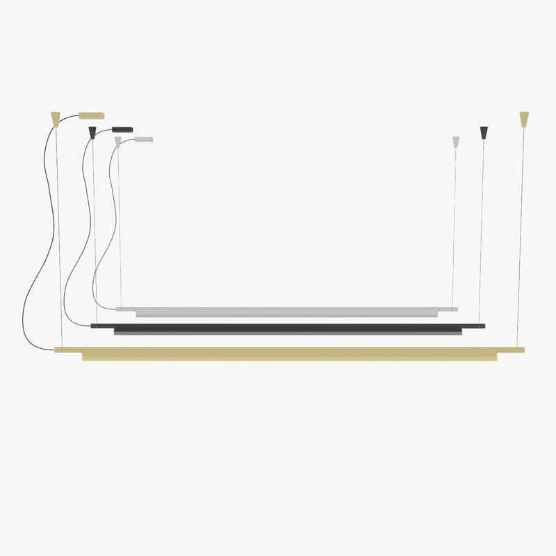 3D model compendium suspension lamp