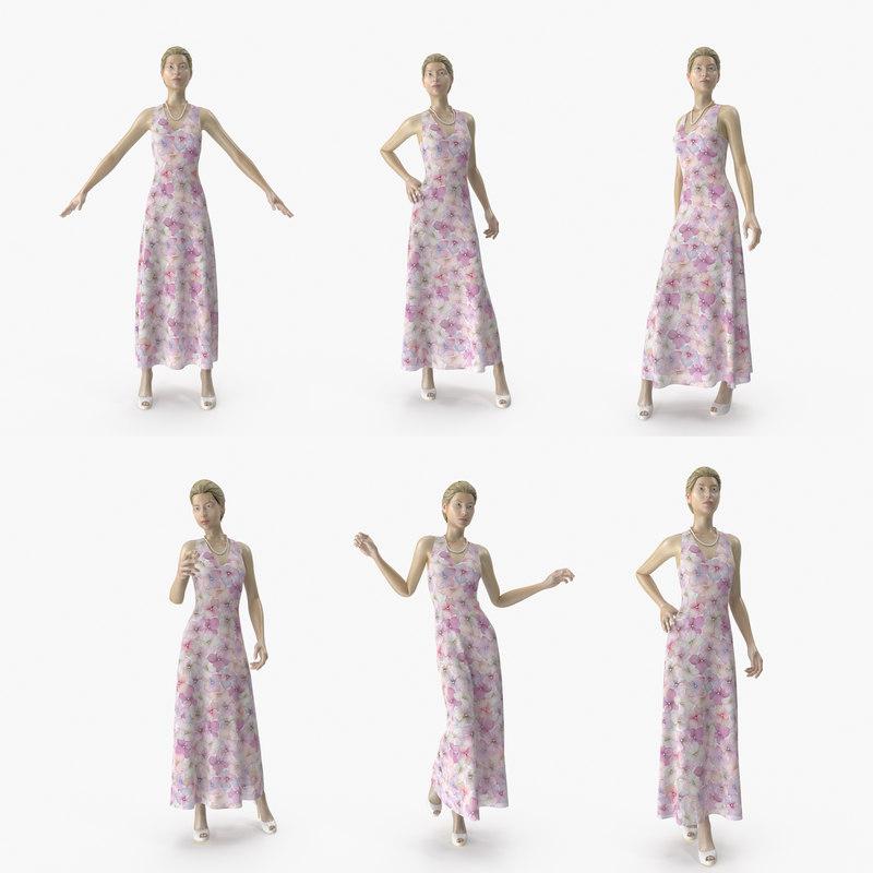 showroom mannequin 036 poses 3D
