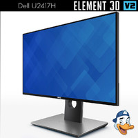 dell u2417h element 3D model