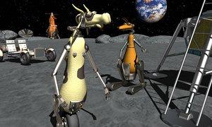 ch jones moon 3D model