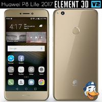 3D huawei p8 lite 2017 model