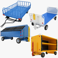 3D airport 01 baggage cart