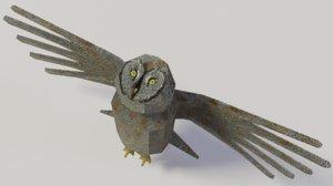 great grey owl 3D model