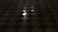 3D checkered floor model