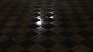 3D checkered floor model
