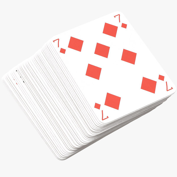 playing cards red deck model
