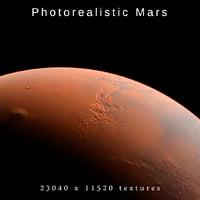 3D mars 23k photorealistic