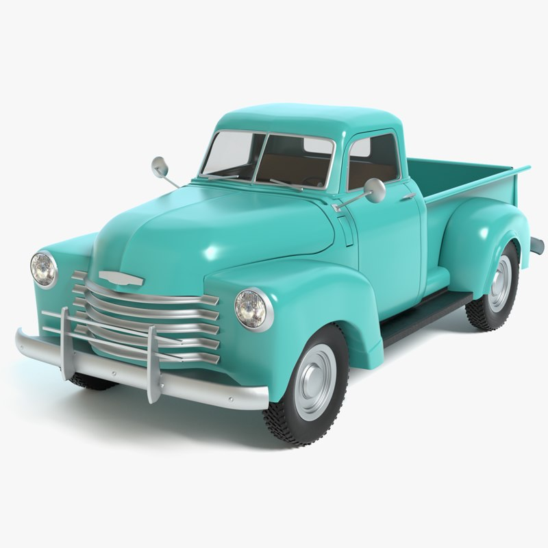 Old pickup truck 3D model - TurboSquid 1154121