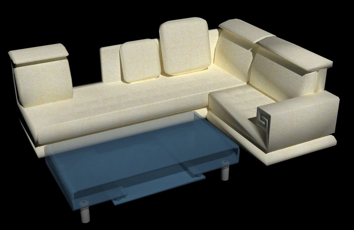3D bend sofa
