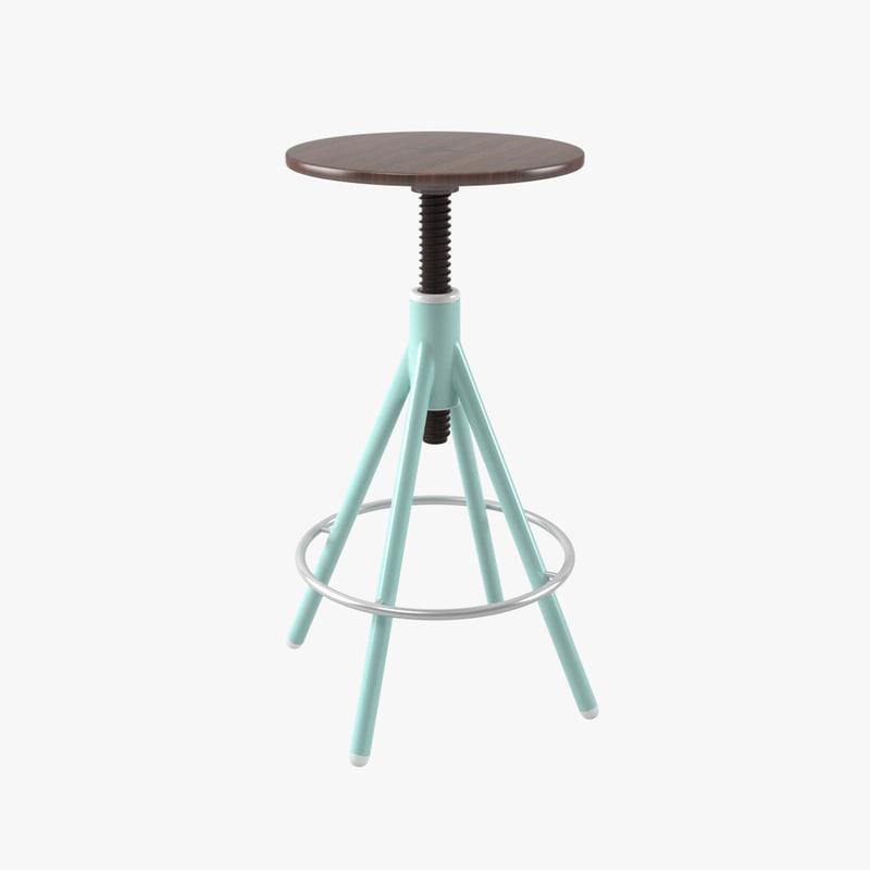 thread bar stool 3D model