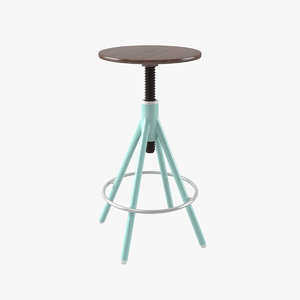 thread bar stool 3D model