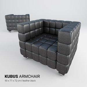 kubus armchair chair 3D