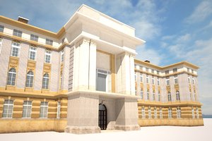 3D neoclassical building architecture model