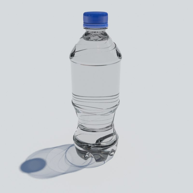 3D model plastic water bottle