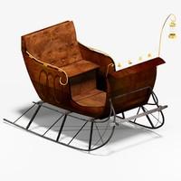 rustic sleigh model