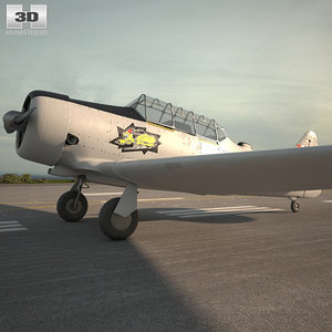 north american t-6 3D model