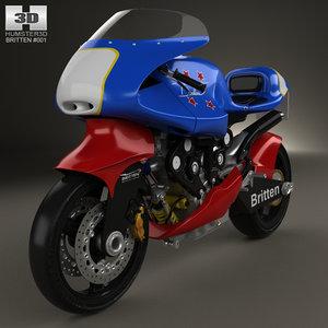 britten v1000 v 3D model