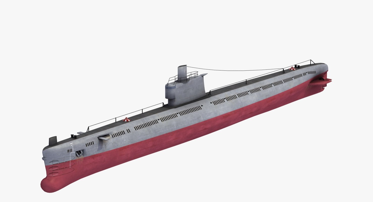 romeo class attack submarine 3D