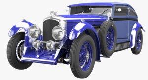3D bentley blue train