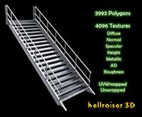 metal stairs model