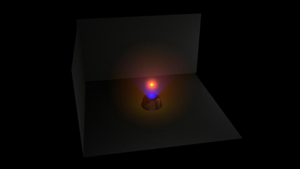 3D projector sun model