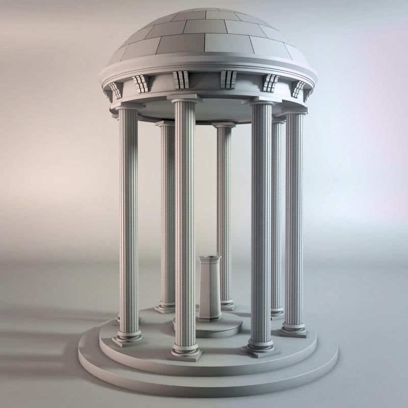 classic doric column 3D model