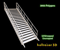 3D metal stairs model