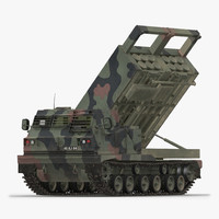US Multiple Rocket Launcher M270 MLRS Camo Rigged
