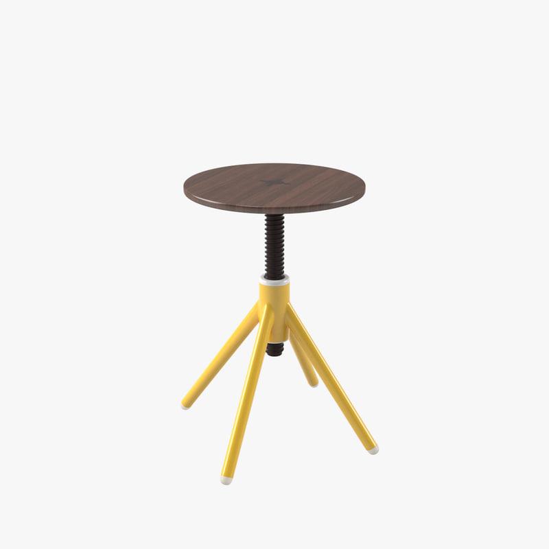 3D model thread small stool