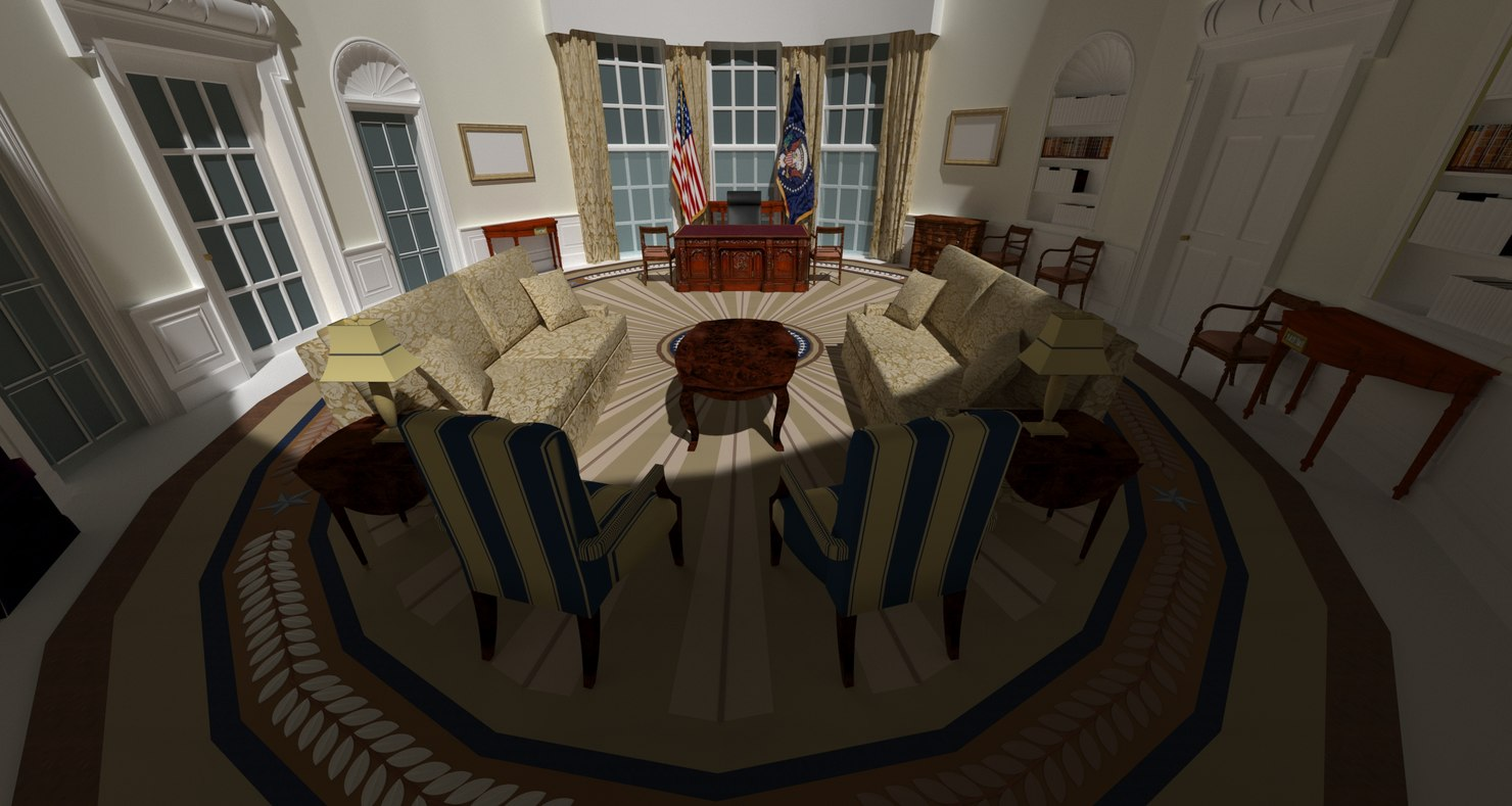 3D oval office - george w
