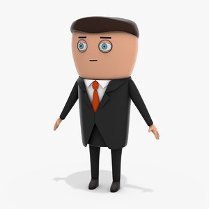 3D cartoon businessman