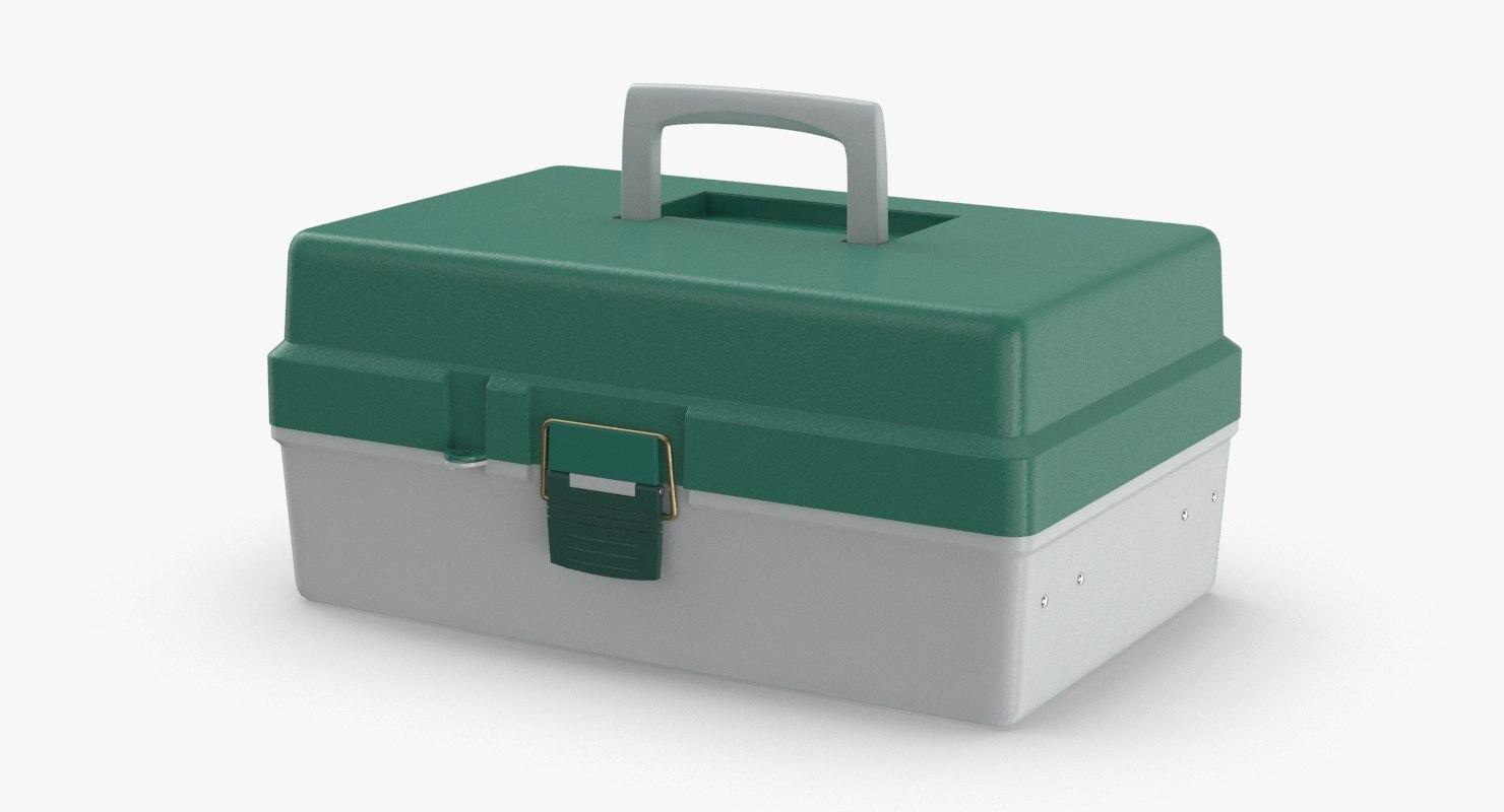 3D model tackle-box---closed
