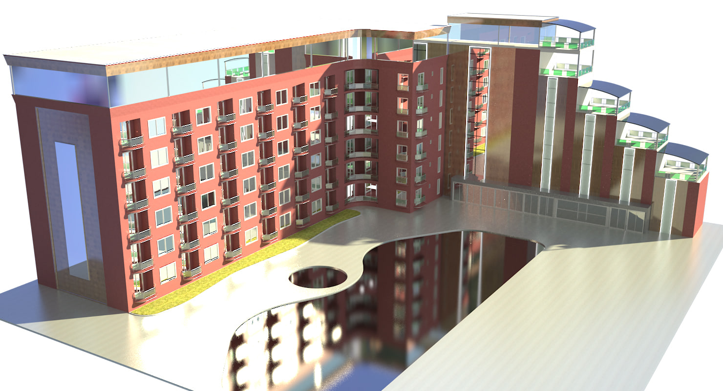 3D hotel model