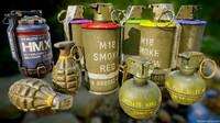 3D modern grenade pack