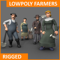 3D farmer characters