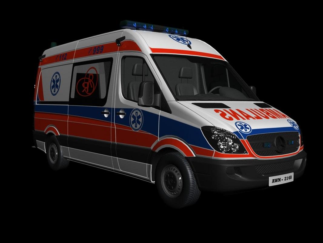 ambulans car architectural 3D model